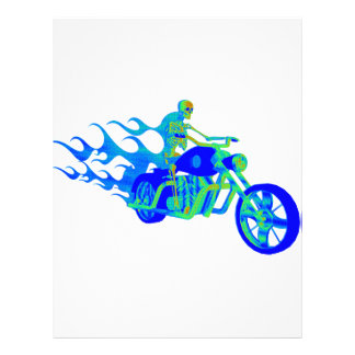 Skeleton Riding a Motorcycle Letterhead