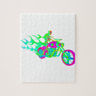 Skeleton Riding a Motorcycle Puzzle