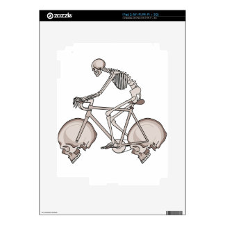 Skeleton Riding Bike With Skull Wheels Skins For iPad 2