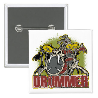 Skeleton Rock Drummer Pins