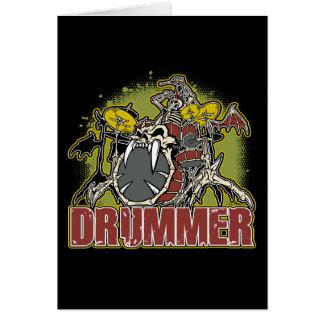 Skeleton Rock Drummer Card