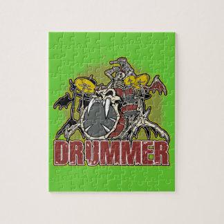 Skeleton Rock Drummer Jigsaw Puzzle