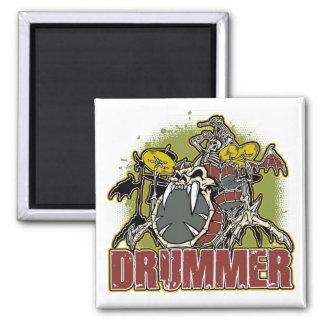 Skeleton Rock Drummer Refrigerator Magnet