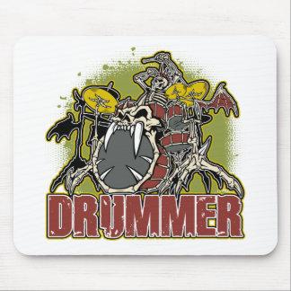 Skeleton Rock Drummer Mouse Pad
