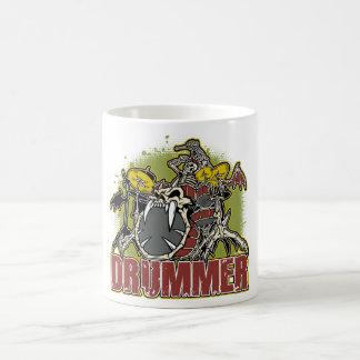 Skeleton Rock Drummer Mugs