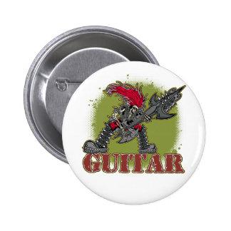 Skeleton Rock Guitarist Pin