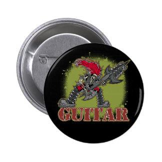 Skeleton Rock Guitarist Buttons