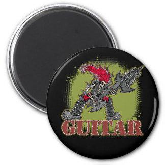 Skeleton Rock Guitarist Magnets