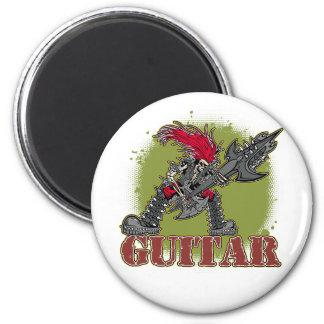 Skeleton Rock Guitarist Fridge Magnets