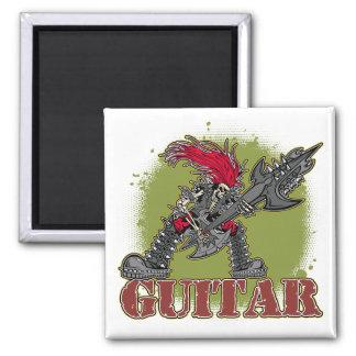 Skeleton Rock Guitarist Refrigerator Magnets
