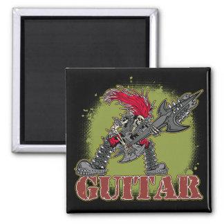 Skeleton Rock Guitarist Refrigerator Magnet