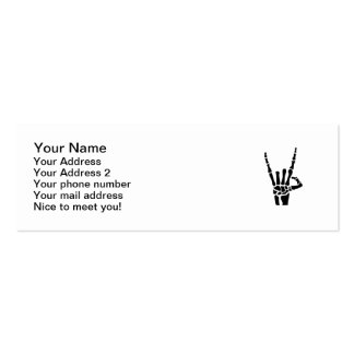 Skeleton rock hand Double-Sided mini business cards (Pack of 20)