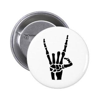 Skeleton rock hand pin
