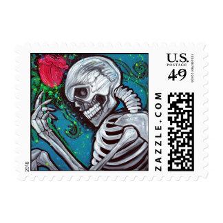 Skeleton Rose Stamp