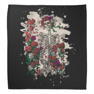 Skeleton & Roses - bleached version Bandana