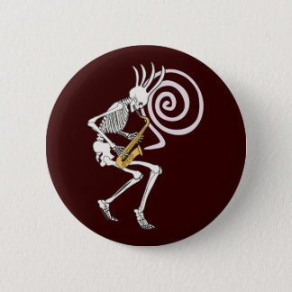 Skeleton Saxophone Button