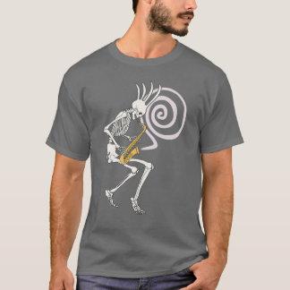 Skeleton Saxophone T-Shirt