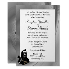 Skeleton Serenade Wedding Invitations at Zazzle