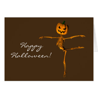 Skeleton Showing Arabesque Ballet Position Greeting Card