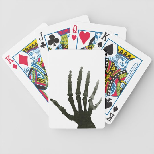 Skeleton Six Fingered Hand Bones Bicycle Playing Cards