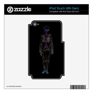 Skeleton Skin For iPod Touch 4G