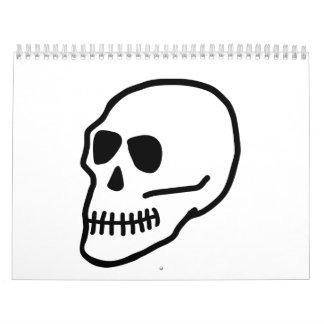 Skeleton skull calendar