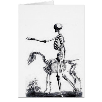 Skeleton skull Halloween Day of the Dead print Card