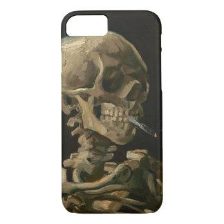 Skeleton Skull with Burning Cigarette by Van Gogh iPhone 7 Case