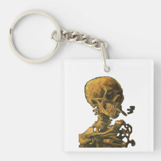 Skeleton Smoking Cigarette Keychain