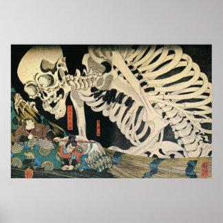 Skeleton Spectre by Kuniyoshi Utagawa Poster