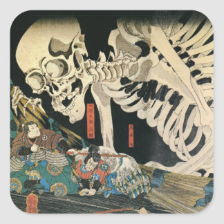 Skeleton Spectre by Kuniyoshi Utagawa Stickers