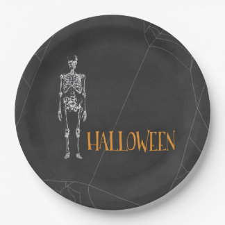Skeleton Spirit Halloween Paper Plate