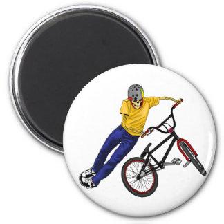 Skeleton Sports BMX  magnet