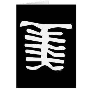 Skeleton Stationery Note Card