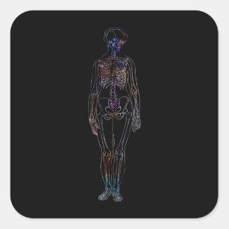 Skeleton Square Sticker