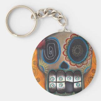 skeleton sugar skull Day of the Dead Keychain