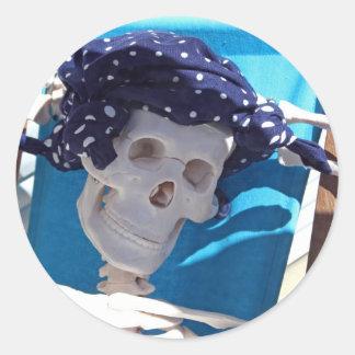 Skeleton Sun Bather Sticker