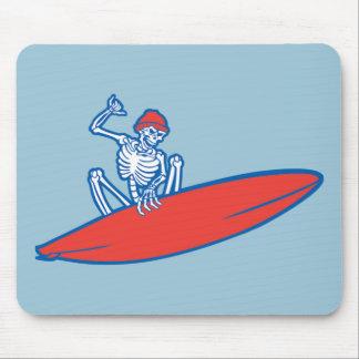 Skeleton Surfer Mouse Pad