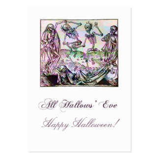 Skeleton Tango Gift Tag Large Business Cards (Pack Of 100)