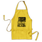 """Skeleton Teacher and Students """"Day of the Dead"""" Adult Apron"""