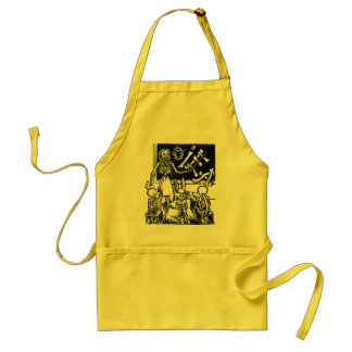 "Skeleton Teacher and Students ""Day of the Dead"" Adult Apron"