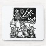 "Skeleton Teacher and Students ""Day of the Dead"" Mouse Pad"