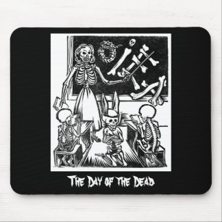 """Skeleton Teacher and Students """"Day of the Dead"""" Mouse Pad"""
