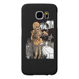 Skeleton Tending the Grave 2 Samsung Galaxy S6 Case