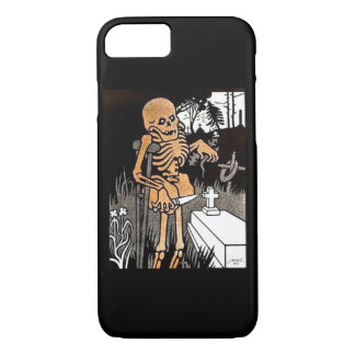 Skeleton Tending the Grave iPhone 7 Case