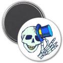 Skeleton Tophat Magnet magnet