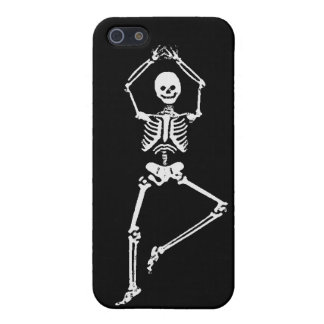 Skeleton Tree Pose - Black iPhone Case