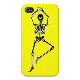 Skeleton Tree Pose - Yellow iPhone Case