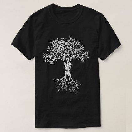 Skeleton Tree Print Shirt