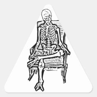 Skeleton Triangle Sticker